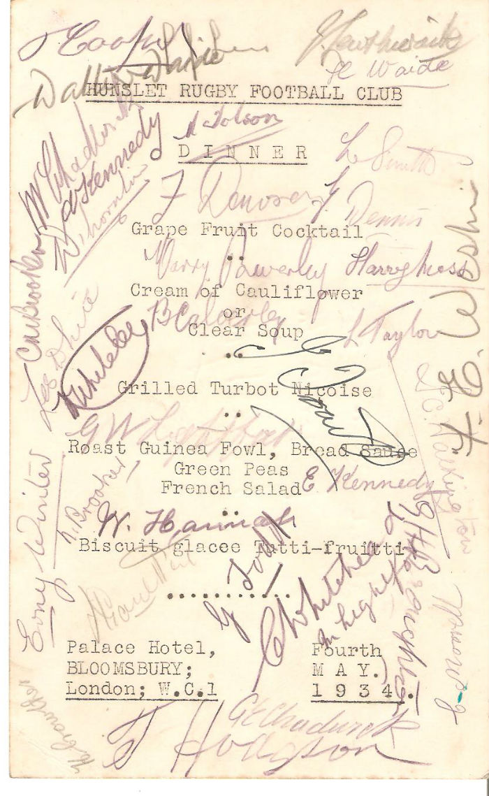 Autographed Dinner Card